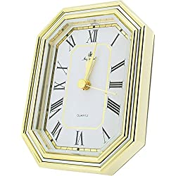 Gold/Silver Desk Alarm Clock by Gift Time Products