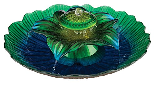Regal Art & Gift 3-Tier Fountain, Blue/Green, 20-Inch