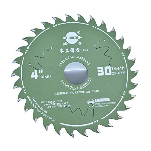 NovelLife 110X0.75mm 30T Alloy Steel Circular Saw Blade for Woodworking Mini Hobby Table Saw Replacement Parts