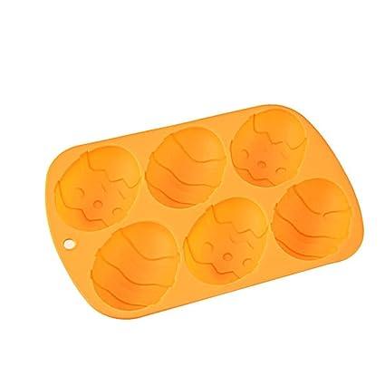 ounona Ostern Ei Form Silikon Schokolade Candy Form Ei Form Kuchenform Cupcake Backform orange
