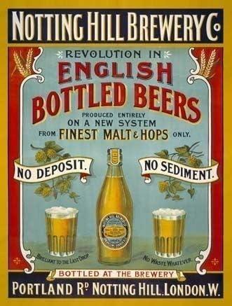 Notting Colina Fábrica de cerveza empresa. Inglés embotellado cervezas. Ales, IPA, EPA, Bebida,...