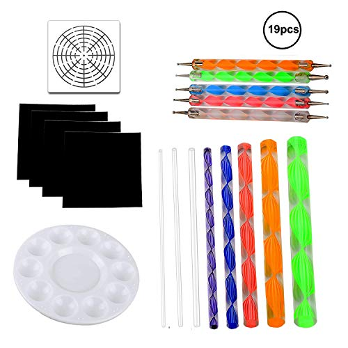 - OOTSR 19 Pieces Painting Tool Set, Mandala Dotting Tools for Rock Painting, Wood Pattern, Wall Art, Kids' Crafts, Nail Design