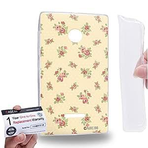 Case88 [Nokia Lumia 435] Gel TPU Carcasa/Funda & Tarjeta de garantía - Art Drawing Fashion Summer Romance Floral Pattern Art1410