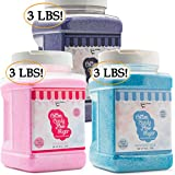 The Candery Cotton Candy Floss Sugar 3-Pack (Strawberry, Raspberry Blue and Grape)