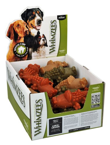 Paragon Whimzees Alligator Dental Chews for Large Dogs, 30 CT ()