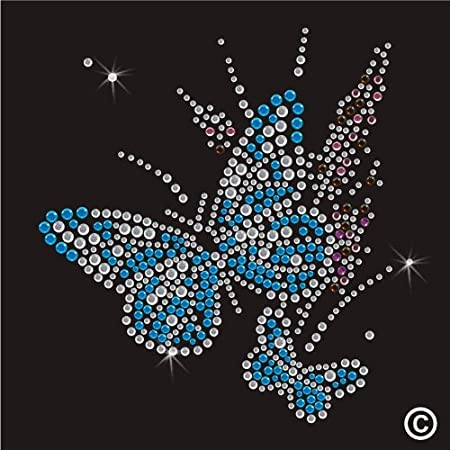 Rhinestone Diamante Crystal Iron On T Shirt Design Transfer - Butterfly   Amazon.co.uk  Kitchen   Home c002ab12ce4a