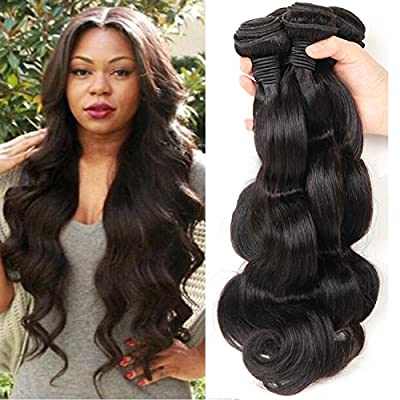 Bestsojoy Brazilian Body Wave Hair 3 Bundles 100% Unprocessed Human Hair Weave Remy Hair Extensions Natural Color 8A