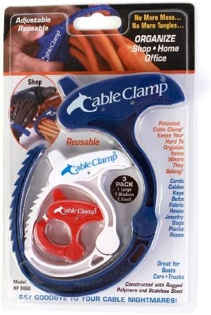 Cable Clamp Set 1 Medium /& 1 Large The Storage Store Includes 1 Small