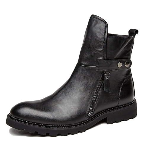 Botas De Hombre Botines Chelsea De Gamuza Zapatos Desérticos De Cuero Botas Martin Botas Cortas Botas Altas Que Luchan A Pie: Amazon.es: Zapatos y ...