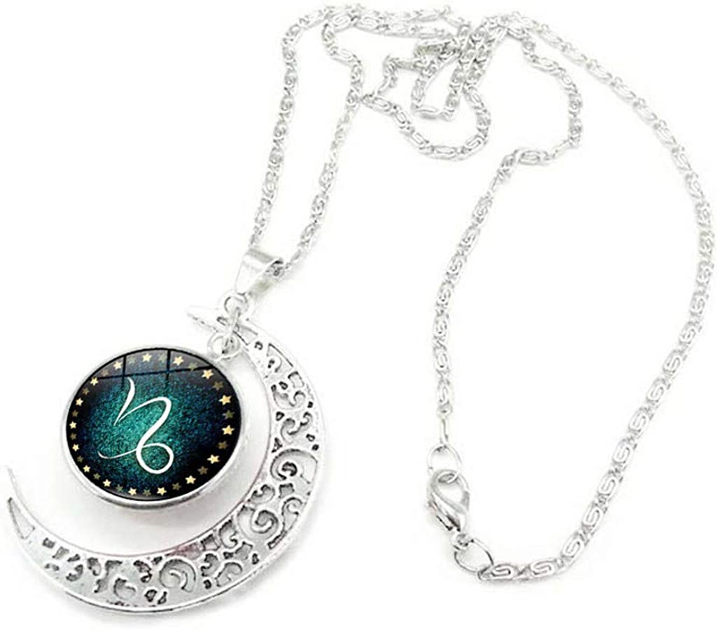 Jewelry Fashion Twelve Constellation Necklace Moon Necklace Necklace Pendant