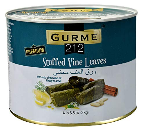 (Gurme212 Premium 4.4 lbs Stuffed Vine Leaves (Dolmades) with Olive Oil)