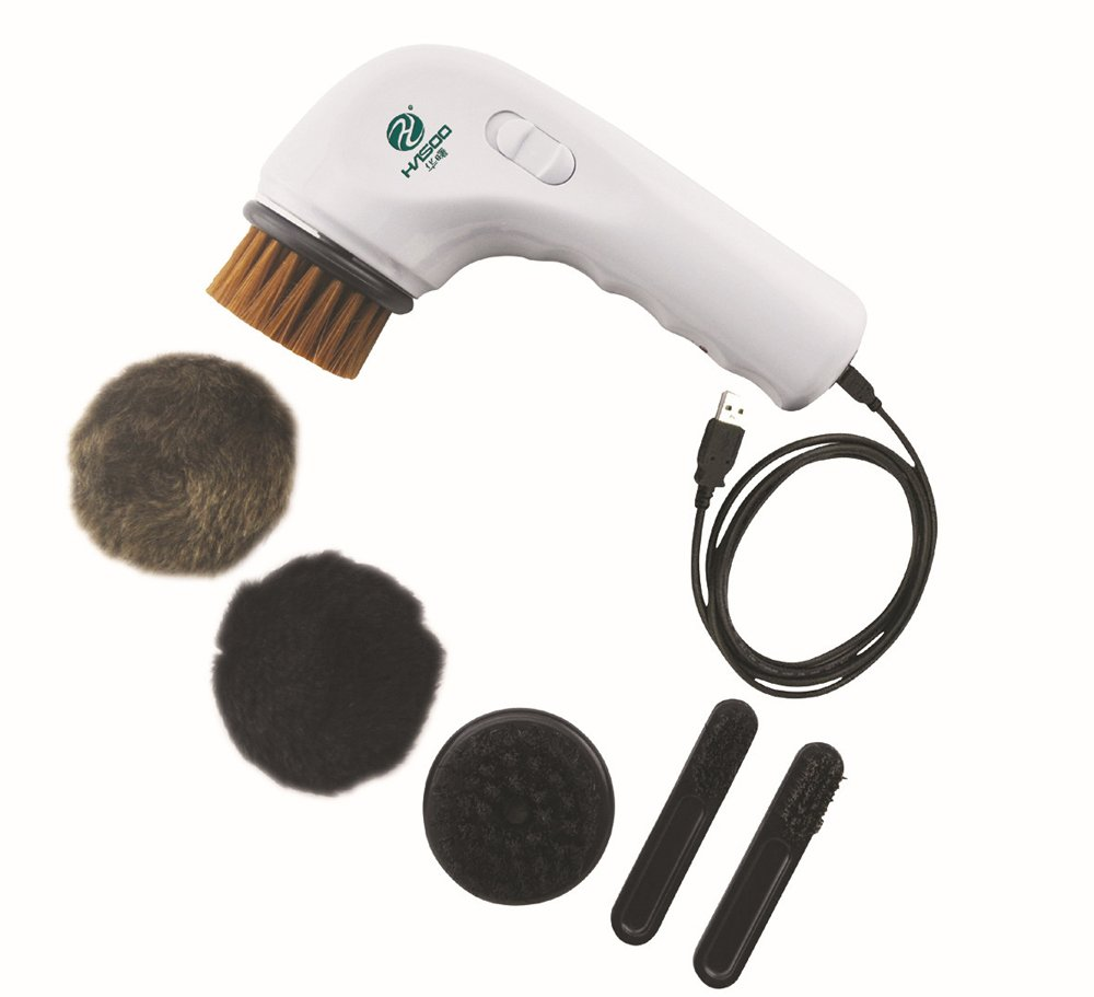Electric Shoe Polisher, EONSMN Portable Handheld Rechargeable Shoe Brush for Leather Bag Car Seat or Sofa