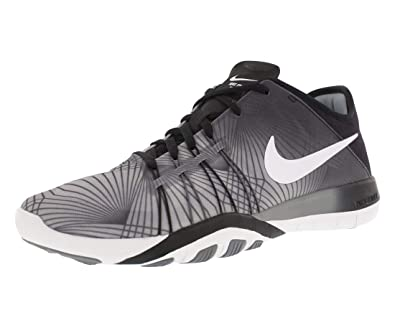 ea41d0e970cc Nike Women s Free TR 6 Print Training Shoe Black White Cool Grey Size 6.5