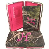 """Soft Camo Initial """" H """" Thick Flat Wallet Clutch Purse Hot Pink Camoflauge, Bags Central"""