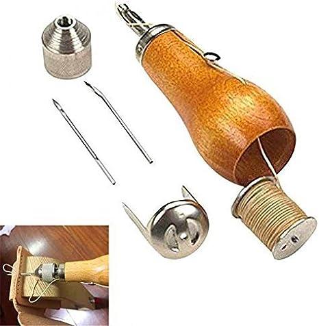 EuBaiFeng - Máquina de coser manual de cuero, herramienta de ...