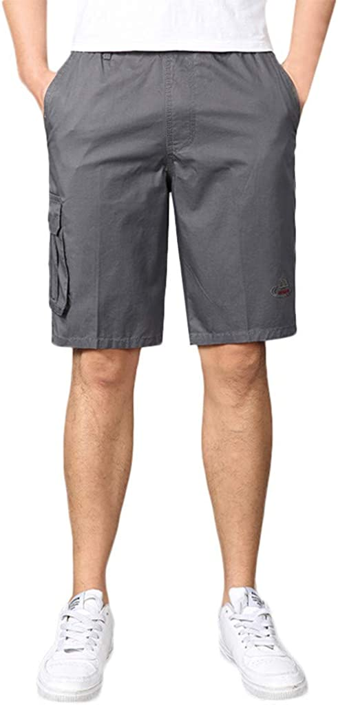 Corriee 2019 Gift Idea Mens Cargo Shorts with Elastic Waistband and Anti-Theft Pocket Mens Summer Pants Big and Tall