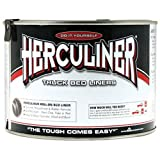 Herculiner HCL0B7-01 Brush-on Bed Liner - 1 Quart (32 Ounces) Black