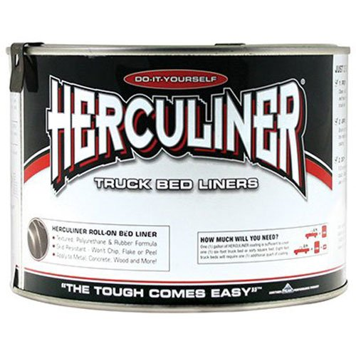 Herculiner HCL0B7 Brush-on Bed Liner - Quart (Liners Bed Truck Plastic)