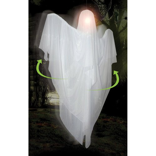 5 Hanging Rotating Ghost Halloween Decoration