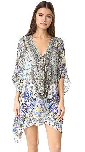 Camilla Women's Short Lace Up Caftan, Weave of Humanity, One Size