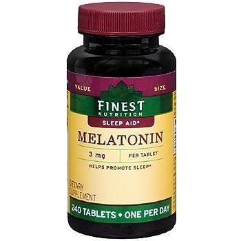 Finest Nutrition Melatonin 3mg Tablets 240 ea by Finest Nutrition