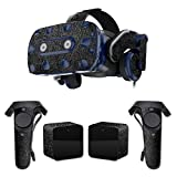 MightySkins Skin for HTC Vive Pro VR Headset - Black Leather | Protective, Durable, and Unique Vinyl Decal wrap Cover | Easy to Apply, Remove, and Change Styles | Made in The USA