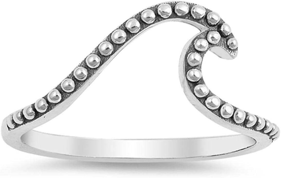 Argentium Silver 4mm Court Wedding Ring Band Size J Full UK Hallmarks