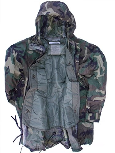 - Genuine Issue US Military ORC Woodland Camo Rainsuit RAIN Jacket Parka Coat + Liner XL X-Large