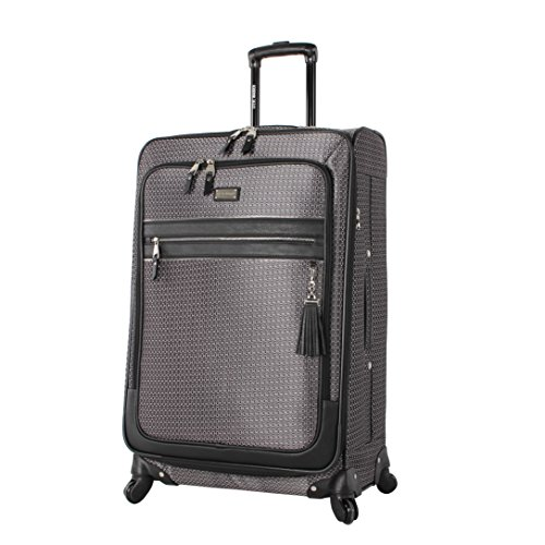 Steve Madden Luggage Large 28'' Expandable Softside Suitcase With Spinner Wheels (28in, Luscious Silver) by Steve Madden Luggage