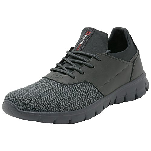 Alpine Swiss Leo Men Sneakers Flex Knit Tennis Shoes Casual Athletic Lightweight,Gray,11 D(M) US Athletic Casual Tennis Shoes