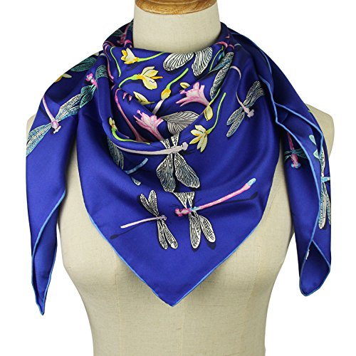 Silk Scarf Square Scarf for Hair Women-Pantonight 100% Pure Silk 14MM Hand Rolling Edge Silk Twill Scarf for - Scarf Silk Pure Classic