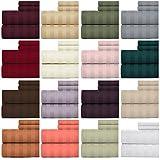 Weavely - Juego de sábanas 100% algodón de 600 Hilos, diseño de Rayas de Damasco, 4 Piezas de sábanas de Calidad de Hotel, sábana Bajera elástica de 15 Pulgadas, Anaranjado Papaya, King
