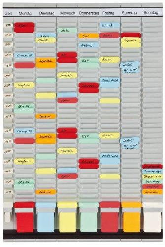 Franken PV-SET3 T-Kartentafel Office Planer, 47.4 x 78 cm, 7 + 1 Index, 35 Stück