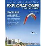 Exploraciones Curso Intermedio (with iLrn Printed Access Card) (World Languages)