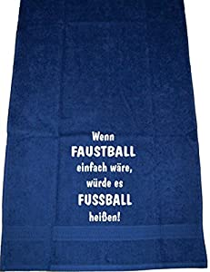Wenn Faustball einfach wäre, würde es Fußball heißen; Badetuch Sport, dunkelblau