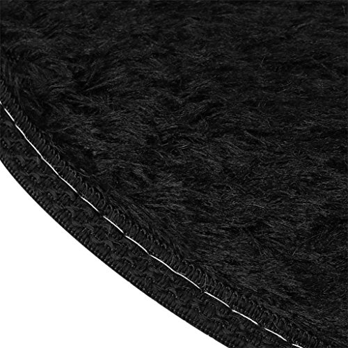 3040cm Anti-Skid Fluffy Shaggy Area Rug Home Bedroom Bathroom Floor Door Mat (Black) by Freshzone (Image #2)