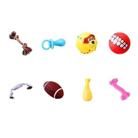 Xingganglengyin Juguetes para mascotas, 8 juegos de juguetes ...