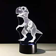 Dinosaur 3D Touch ILLusion Night Light 7 Colors Changing Table Desk Deco Lamp Bedroom Children Room Decorative Night Light for Kids