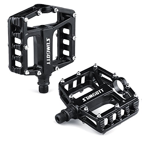 - SUMGOTT Metal Bike Pedals, Mountain Bicycle Pedals with Aluminum Alloy Platform for MTB BMX Bike (Pedal)