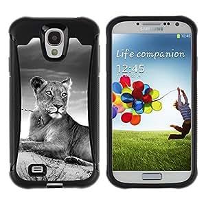 Suave TPU GEL Carcasa Funda Silicona Blando Estuche Caso de protección (para) Samsung Galaxy S4 IV I9500 / CECELL Phone case / / Tiger Cub Black White Africa Animal Wild /
