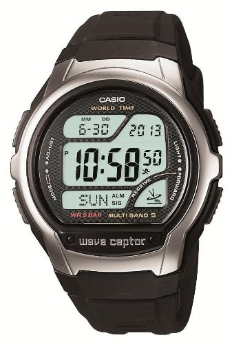 Waveceptor Digital Watch (CASIO watch WAVE CEPTOR Waveceptor radio watch MULTI BAND5 model digital WV-58J-1AJF mens watch)
