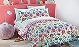 Emoji Bed in a Bag Full Emoji Girls Complete Reversible Bedding Comforter Set (Chevron Zebra, Full)