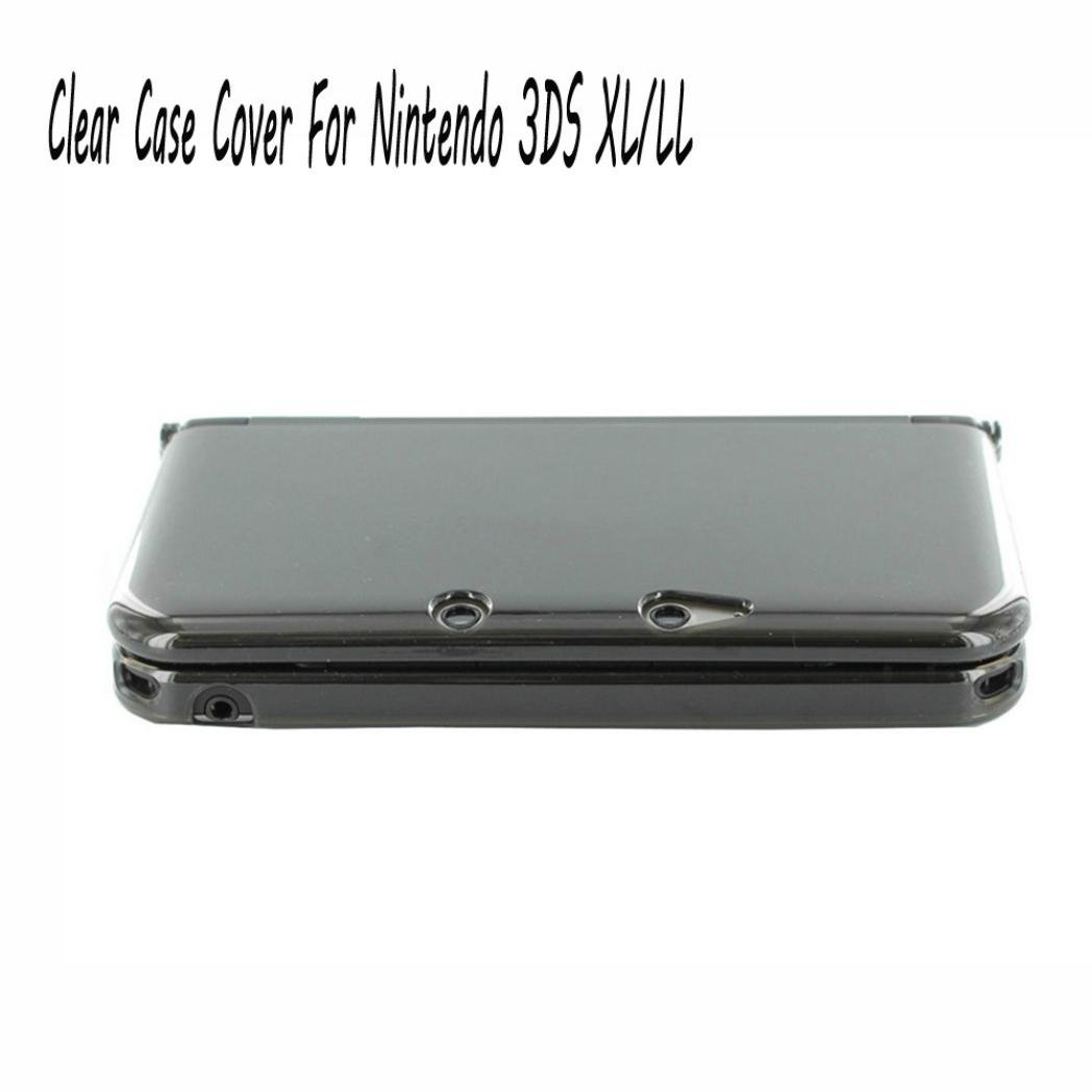 Clear Crystal PC Hard Shell Slim Protective Case Skin Cover For Nintendo 3DS XL/LL ,Tuscom