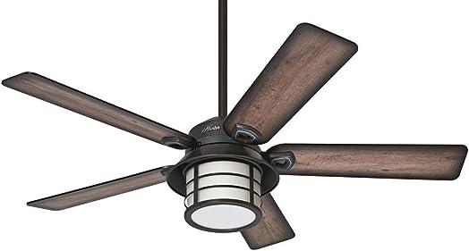 Hunter 54″ Key Biscayne Weathered Zinc Ceiling Fan