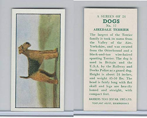(B0-0 Barbers Tea, Dogs, 1961, 17 Airedale Terrier)