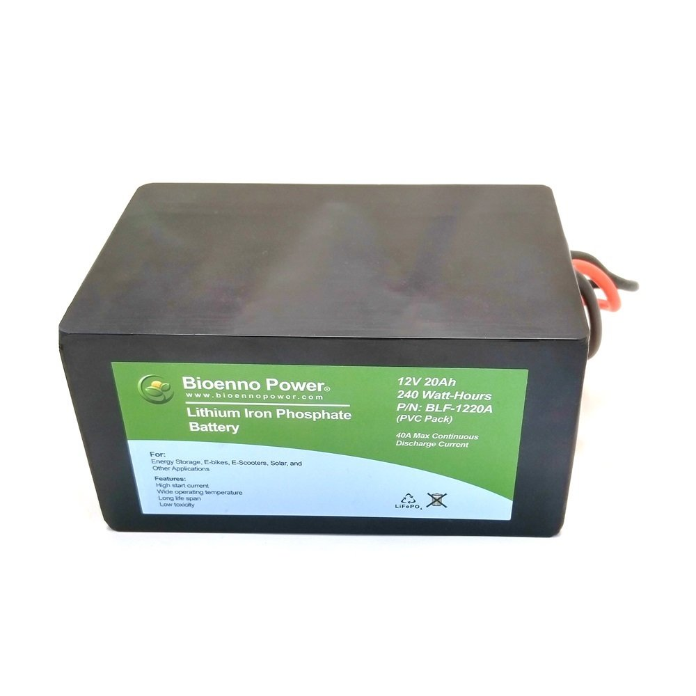 Bioenno Power 12V, 20Ah LFP Battery (PVC, BLF-1220A)