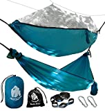 🔵 Chill Gorilla, a US-Based company. 100% Customer Satisfaction Rating Beat The Mosquitoes and Bugs. Get A Comfortable Night of Sleep! Sets up fast, roomy, pack lighter, sleep better, and no bugs!2 in 1 REVERSIBLE HAMMOCK DESIGN Unzip the bug netting...
