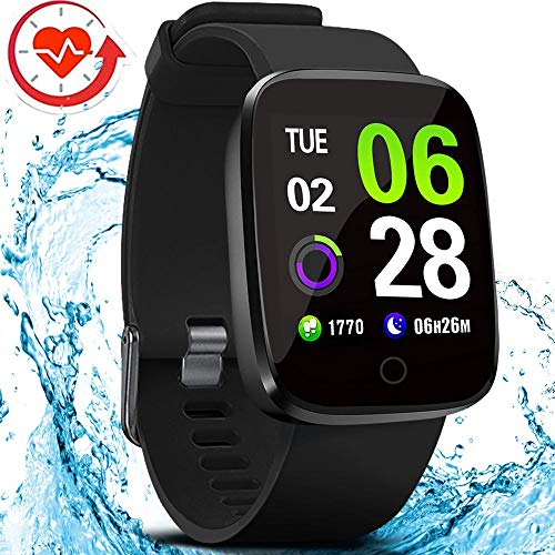 FITVII E-Pro Smart Watch, Fitness Tracker with Multifunctional Sport Mode, Heart Rate&Blood Pressure Monitor with SpO2 and Sleep Tracker, Waterproof Color Screen Activity Health Tracker for Women Men (Best Running Back In College Football 2019)