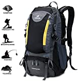 FENGGU Hiking Backpack Waterproof Mountaineering Bag...