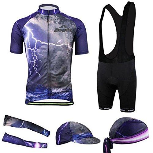 Bazaar Vêtements cycliste de vélo 3d cuissard en tissu de vélo t-shirt jersey pour hommes